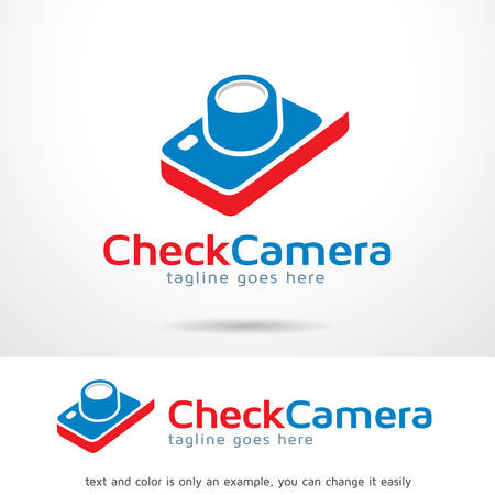 Check Camera Logo Template Design Vector, Emblem, Design Concept, Creative Symbol, Icon Çizim