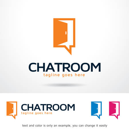 Chat Room Logo Template Design Vector, Emblem, Design Concept, Creative Symbol, Icon Çizim