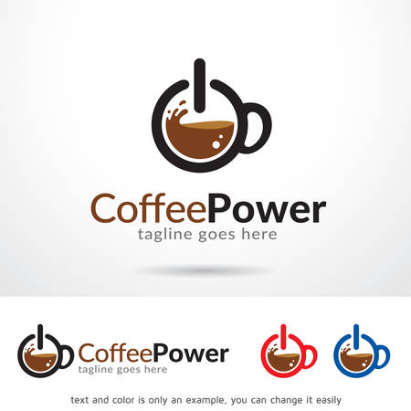 Coffee Power Logo Template Design Vector, Emblem, Design Concept, Creative Symbol, Icon