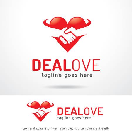 Deal Love Logo Sjabloon Ontwerp Vector, Embleem, Ontwerp Concept, Creatief Symbool, Pictogram