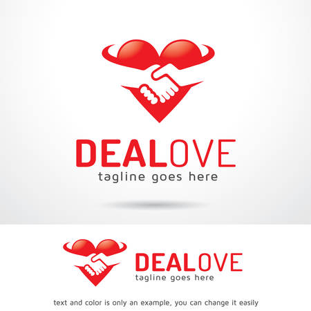 Deal Love Logo Template Design Vector, Emblem, Design Concept, Creative Symbol, Icon