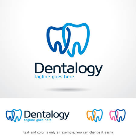 Dentalogy Logo Template Design Vector, Emblem, Design Concept, Creative Symbol, Icon