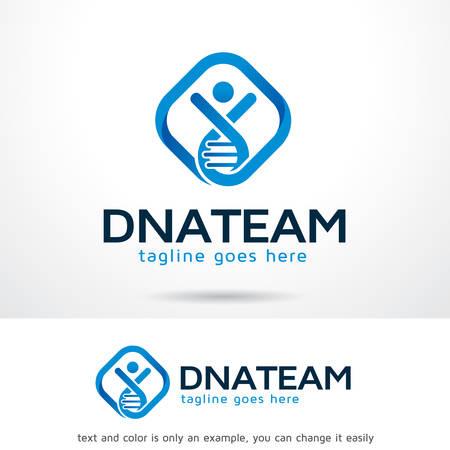 DNA Team Logo Template Design Vector, Emblem, Design Concept, Creative Symbol, Icon