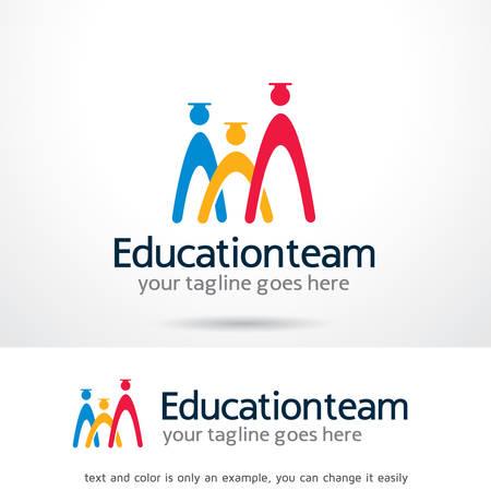 Onderwijs Team Logo Sjabloon Ontwerp Vector, Embleem, Ontwerp Concept, Creatief Symbool, Pictogram Stock Illustratie