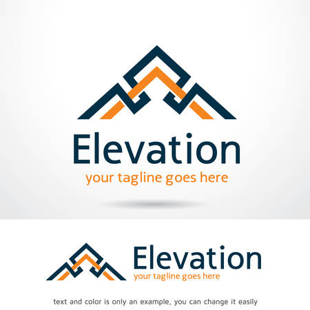 Abstract Elevation Logo Template Design Vector, Emblem, Design Concept, Creative Symbol, Icon