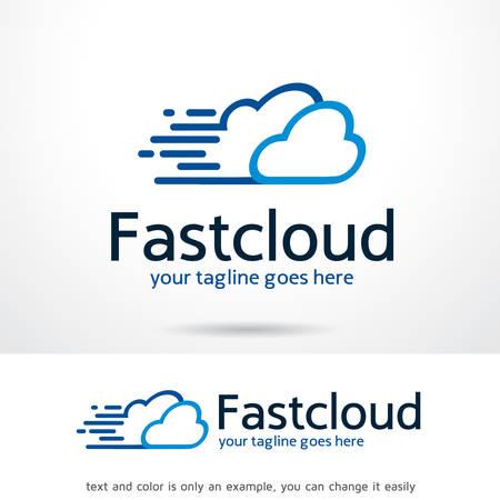 Fast Cloud Logo Template Design Vector, Emblem, Design Concept, Creative Symbol, Icon 矢量图像