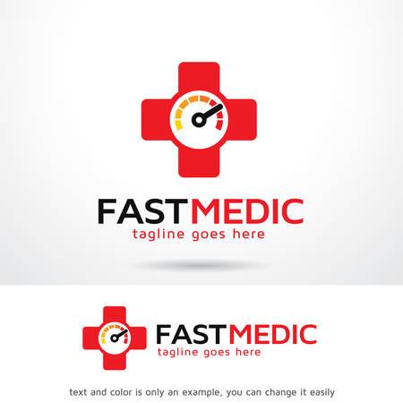 Fast Medic Logo Template Design Vector, Emblem, Design Concept, Creative Symbol, Icon Ilustracja