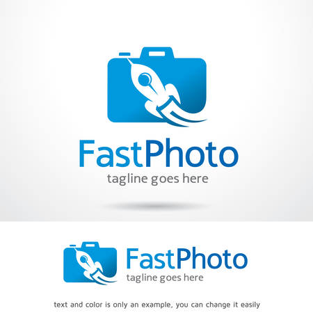 Fast Photo Logo Template Design Vector, Emblem, Design Concept, Creative Symbol, Icon Vectores