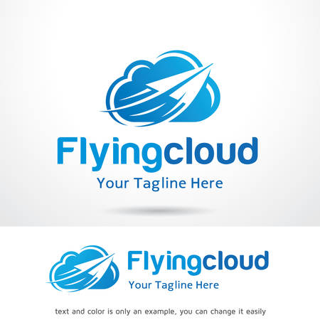 Flying Cloud Logo Template Design Vector, Emblem, Design Concept, Creative Symbol, Icon Çizim