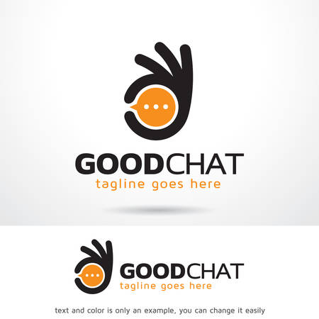 Good Chat Logo Template Design Vector, Emblem, Design Concept, Creative Symbol, Icon