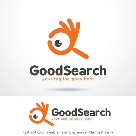 Goede Zoek Logo Sjabloon Ontwerp Vector, Embleem, Ontwerp Concept, Creatief Symbool, Pictogram