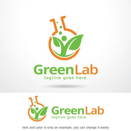 Green Lab Logo Template Design Vector, embleem, ontwerpconcept, creatief symbool, pictogram Stock Illustratie