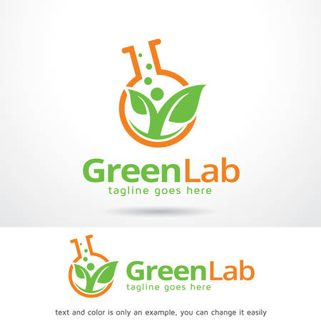 Green Lab Logo Template Design Vector, Emblem, Design Concept, Creative Symbol, Icon Çizim