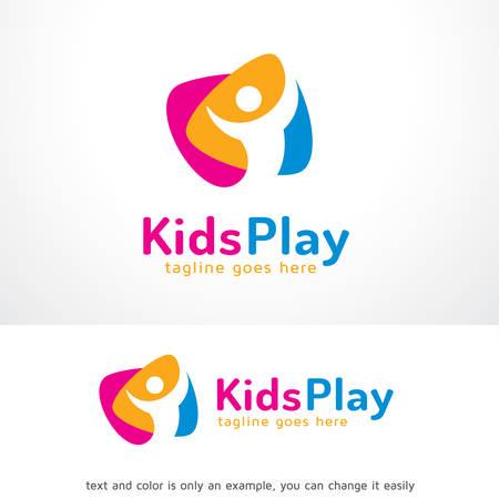 Kids Play Logo Sjabloon Ontwerp Vector, Embleem, Ontwerp Concept, Creatief Symbool, Pictogram