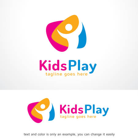 Kids Play Logo Template Design Vector, Emblem, Design Concept, Creative Symbol, Icon