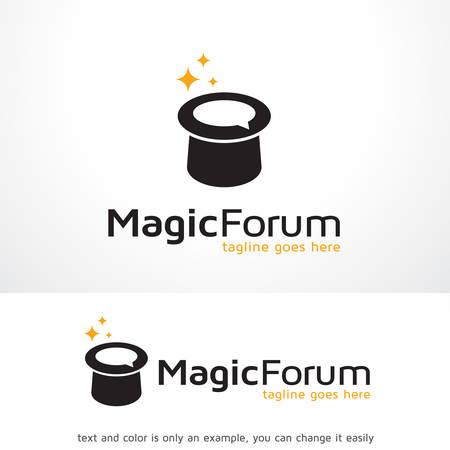 Magic Forum Logo Template Design Vector, Emblem, Design Concept, Creative Symbol, Icon