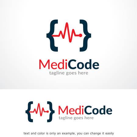 Medisch Code Logo Sjabloon Ontwerp Vector, Embleem, Ontwerp Concept, Creatief Symbool, Pictogram