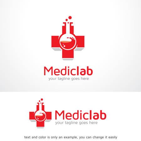 Medisch Lab Logo Sjabloon Ontwerp Vector, Embleem, Ontwerp Concept, Creatief Symbool, Pictogram