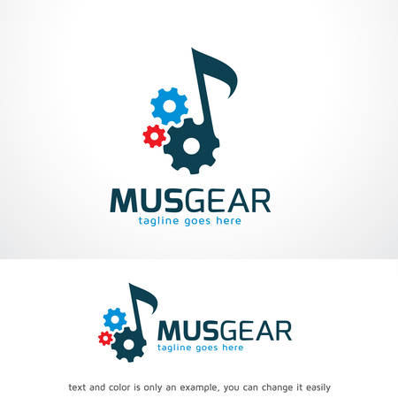 Music Gear Logo Template Design Vector, Emblem, Design Concept, Creative Symbol, Icon