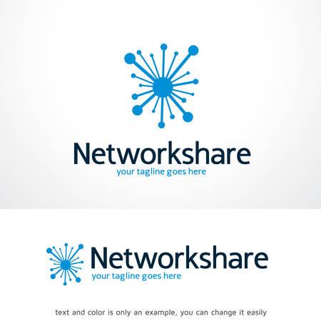 Netwerk Share Logo Sjabloon Ontwerp Vector, Embleem, Ontwerp Concept, Creatief Symbool, Pictogram