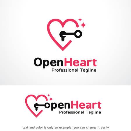 Open Heart Logo Template Design Vector, Emblem, Design Concept, Creative Symbol, Icon