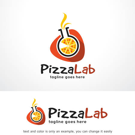 Pizza Lab Logo Template Design Vector, Emblem, Design Concept, Creative Symbol, Icon