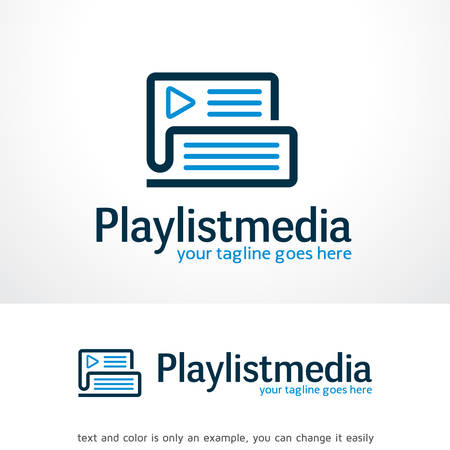 Play List Logo Template Design Vector, Emblem, Design Concept, Creative Symbol, Icon