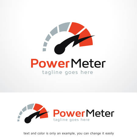 Power Meter Logo Template Design Vector, Emblem, Design Concept, Creative Symbol, Icon