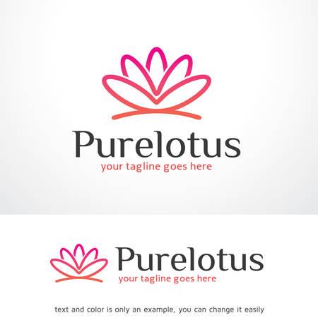 Pure Lotus Logo Sjabloon Ontwerp Vector, Embleem, Ontwerp Concept, Creatief Symbool, Pictogram