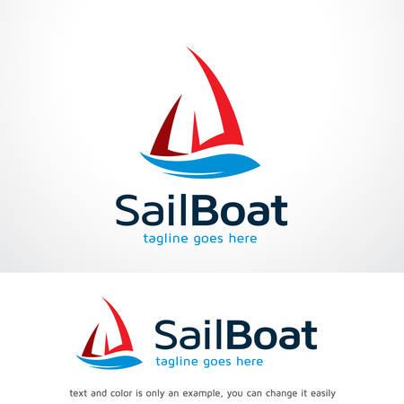 Sail Boat Logo Template Design Vector, Emblem, Design Concept, Creative Symbol, Icon Ilustracja