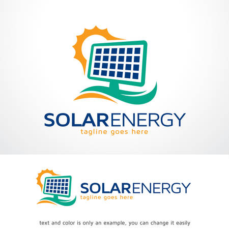 Solar Energy Logo Template Design Vector, Emblem, Design Concept, Creative Symbol, Icon