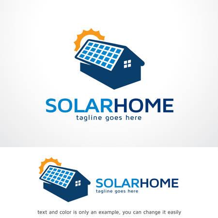 Solar Home Logo Sjabloon Ontwerp Vector, Embleem, Ontwerp Concept, Creatief Symbool, Pictogram