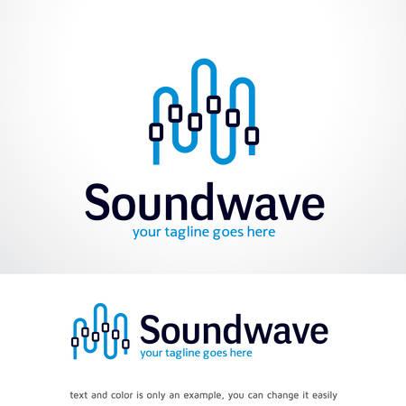 Sound wave logo sjabloon ontwerp vector, embleem, ontwerp concept, creatief symbool, icoon Stock Illustratie