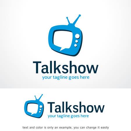 Talk Show Logo Sjabloon Ontwerp Vector, Embleem, Ontwerp Concept, Creatief Symbool, Pictogram