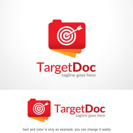 Target Doc Logo Template Design Vector, Emblem, Design Concept, Creative Symbol, Icon Ilustracja