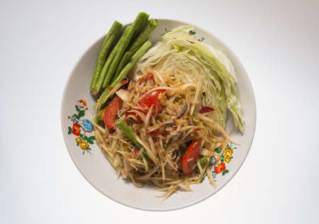 slatternly: papaya salad crab slatternly withvegetable