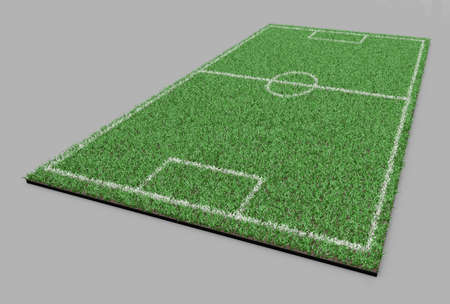 terrain football: terrain de soccer sur le terrain de football de la ligne de l'herbe