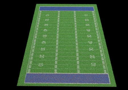 terrain foot: terrain de soccer sur le terrain de football de la ligne de l'herbe