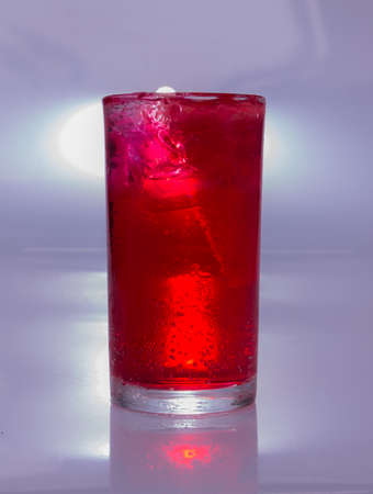 temperance: red soda water and ice