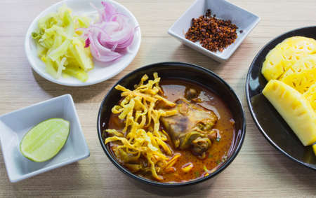 soi: khao soi thai food style Stock Photo