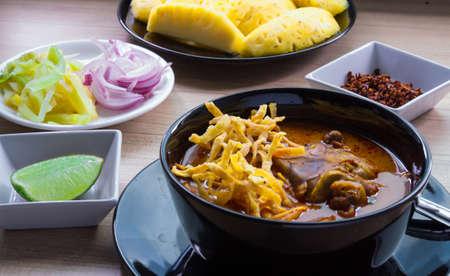 soi: Khao Soi thai food style yellow