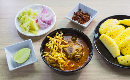 soi: khao soi thai food style Stock Photo
