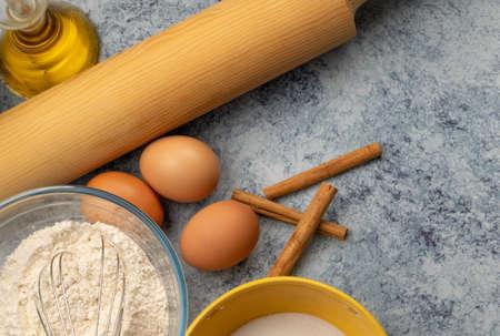 Ingredients for preparing a cake Фото со стока