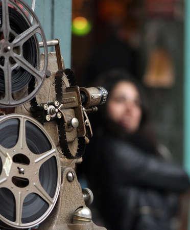 Antique shop and nostalgia old camera movie