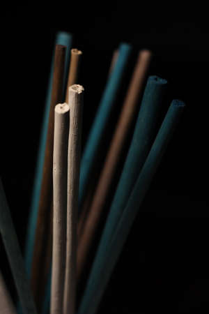 Colorful decorative wooden chopsticks 스톡 콘텐츠