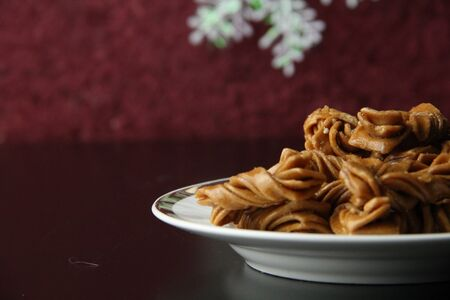 twist: Traditional Chinese snacks twist Stock Photo