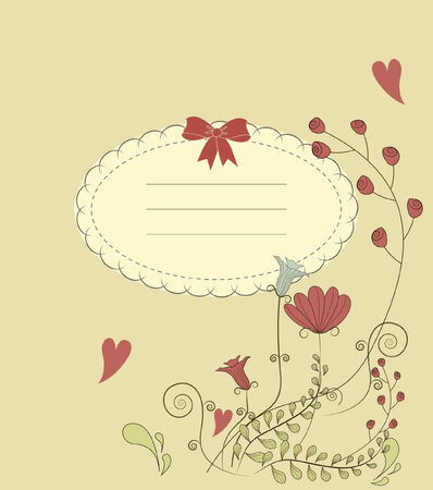 Vintage card with flowers Stock Vector - 9074517