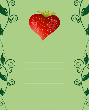 Tasty strawberry card  Vector