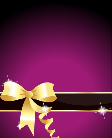 Elegant ribbon and purple background  Vector