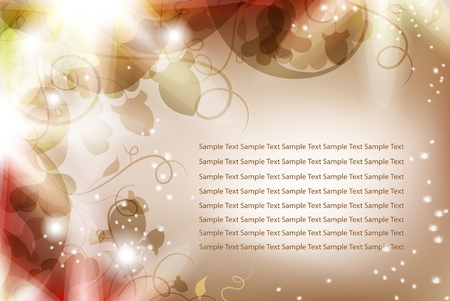 Luminous background with flowers and bright light. Beautiful harmonic colors. Place Your text if necessary. Vector